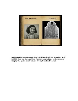 Text to Text Connection: Anne Frank and Book Thief