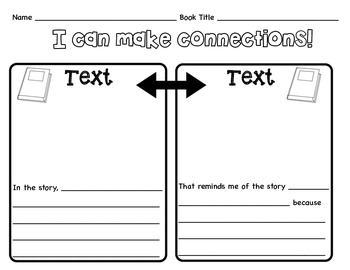 Text To Text Graphic Organizer By Christine Sobczak Tpt