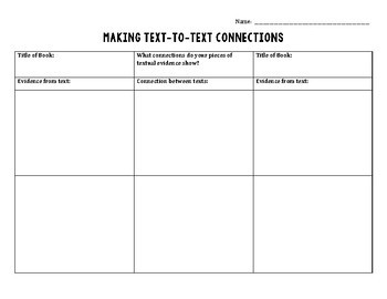 Text-to-Text Minilesson for Middle School Reading Workshop Freebie: CCSS Aligned
