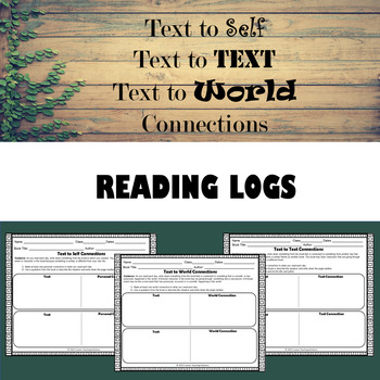 Text to Text/Self/World Connections - Reading Log
