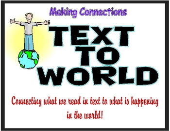 text to world connections poster by copyless classroom tpt. Black Bedroom Furniture Sets. Home Design Ideas
