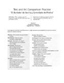 """Question # 2 Text vs Art Practice """"El Burlador de Sevilla y Convidado de Piedra"""""""