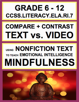 Text vs. Film Compare + Contrast with SEL Nonfiction Article: Mindfulness