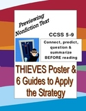 Previewing Reading: THIEVES Poster & 6 Guides for Nonfiction Comprehension