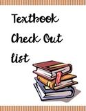 Textbook Checkout List