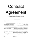 Textbook Contract Agreement
