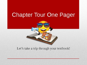 Textbook Reading - Chapter Tour One Pager POWERPOINT