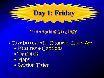 Textbook Reading Five Day Plan