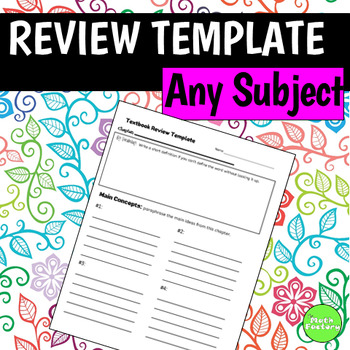 Textbook Review Template