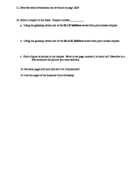 Textbook Scavenger Hunt - American Government Magruders