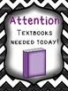 Textbooks Needed Door Sign
