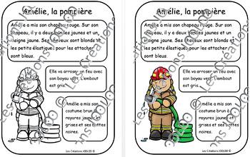 Textes à colorier - Pompiers