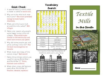 Textile Mills in the South