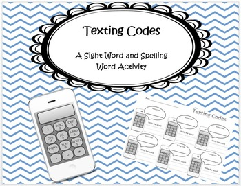 Texting Codes- Daily 5 Word Work