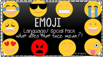 Texting Emojis Language Pack: Social Skills, Vocab, Inference Skills, Writing