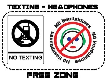 Texting - Headphones Free Zone