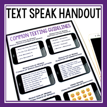 TEXTING LANGUAGE PRESENTATION & ASSIGNMENTS
