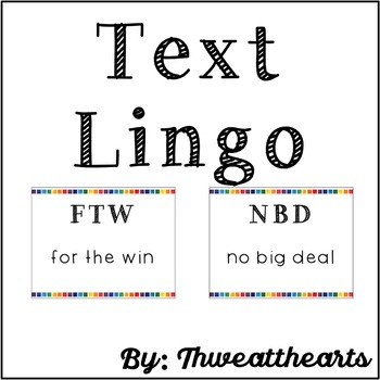 Texting Lingo Poster Set