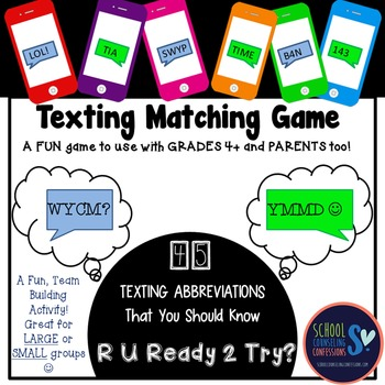 Texting GAME - 45 Different Texting Abbreviations for your