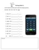 Texting Math 1
