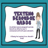 Texting Resource Cards