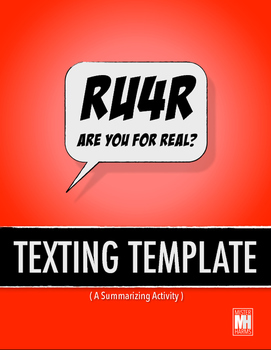 TEXTING TEMPLATE: Summary Analysis for any History or English Class