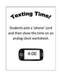 Texting Time Cards and Worksheet