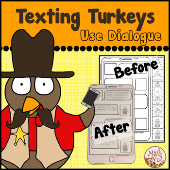 Thanksgiving Writing: Texting Turkeys use Dialogue