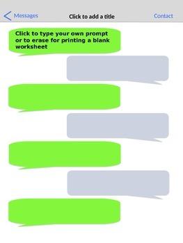 Texting Worksheet - Blank Form