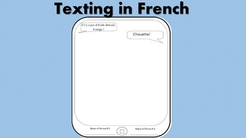 Texting in French, 8 Conversation Starters and Warm-Up