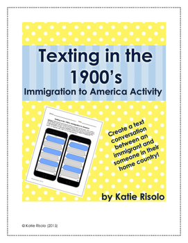 Texting in the 1900's: An Immigration Activity