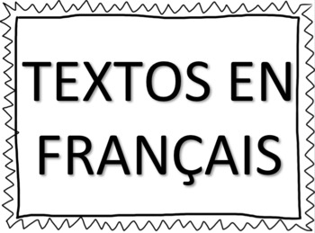 French Texting Short Form Poster / Affiche texto français