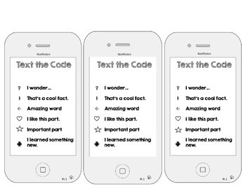 Close Reading - Coding the Text - Reading Comprehension iPhones