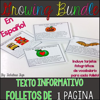 Texto Informativo- Folleto para Doblar (Growing Bundle)