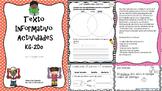 Texto Informativo K-2do/Spanish