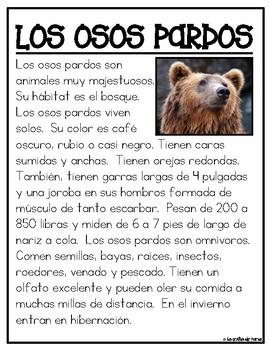 Textos Informativos- Animales del Bosque