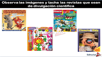 Textos de Divulgacion Cientifica para niños MATERIAL PARA IMPRIMIR