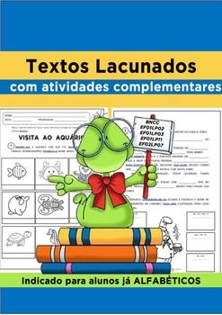 Textos lacunados com atividades complementares