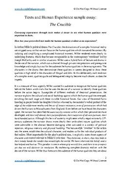 hsc english essays samples