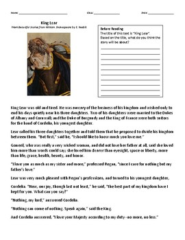 Texts and Tasks: King Lear