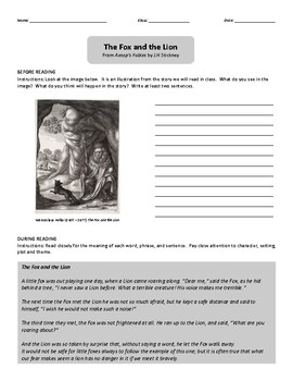 Texts and Tasks: The Fox and the Lion