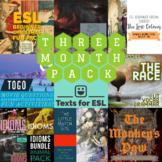 3 Month Pack - ESL Beginners + Intermediates! Readings, Ac