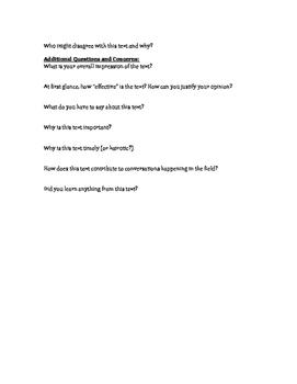 Textual Analysis Worksheet: