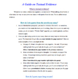 Textual Evidence Guide