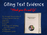 Textual Evidence Citation Strategy with INB Reference Guide
