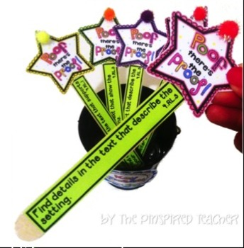 Text Evidence Kit: A POOF of PROOF- Motivators to Find Evidence! (Grade 1)