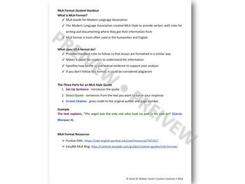 Textual Evidence (MLA Format)