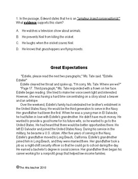 Textual Evidence: Mastery Assessment