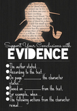 Textual Evidence Poster - Digital Download