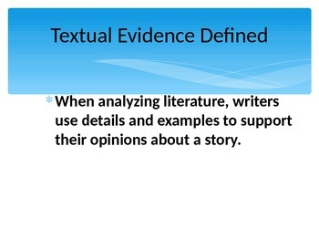 Textual Evidence Powerpoint using RACE Strategy
